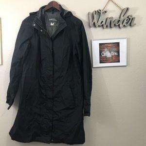 Eddie Bauer Weatheredge Long Trench Rain Coat